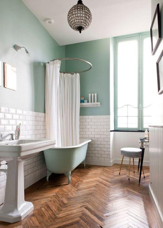 les couleurs tendance dans la salle de bains. Black Bedroom Furniture Sets. Home Design Ideas