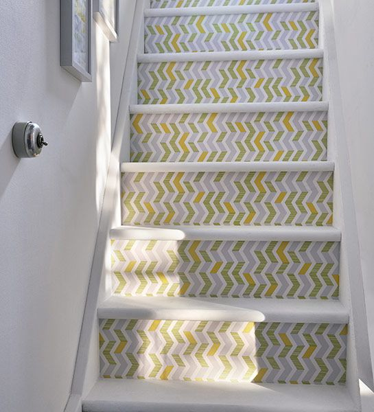 escalier motif chevrons