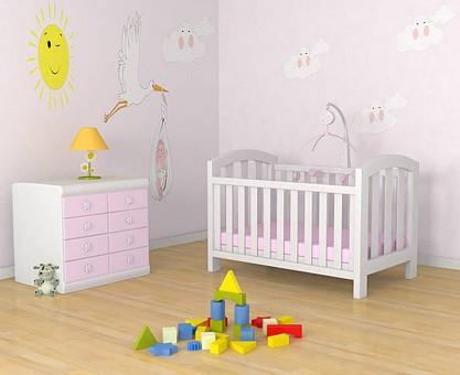Choisir le papier peint d'une chambre de bébé