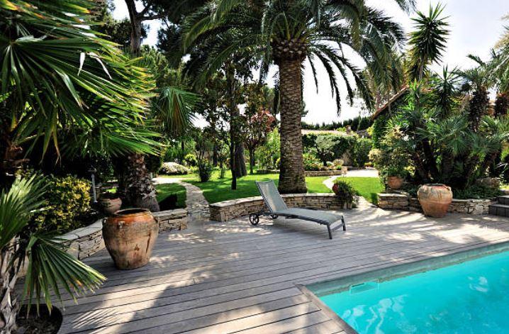 Decoration Piscine Terrasse Palmiers